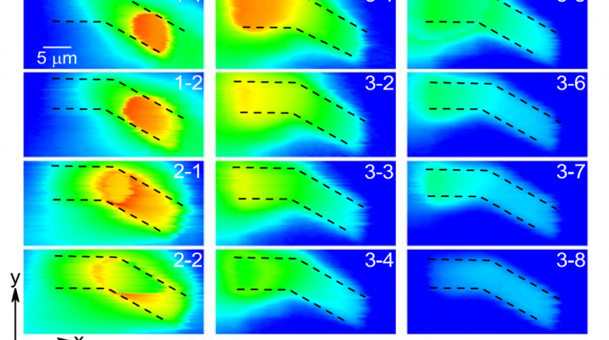 Hot Spot Formation In A Curved Iron-based Superconducting Whisker