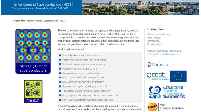 Nanoengineered Superconductors – NES21 Young Investigator's Online Workshop, May 10-12, 2021